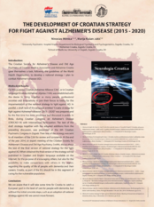 The development of Croatian strategy for fight against Alzheimer's disease (2015 - 2020)